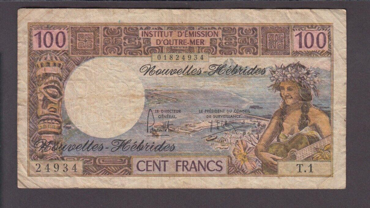 RECTO 100 francs Nouvelles-Hébrides Type 1970 - None