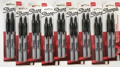 Lot Of 18 9 2-packs Sharpie Fine Point Retractable Permanent Markers Black
