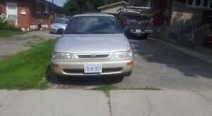 1997 Toyota Corolla NEGOTIABLE CERT AND ETEST