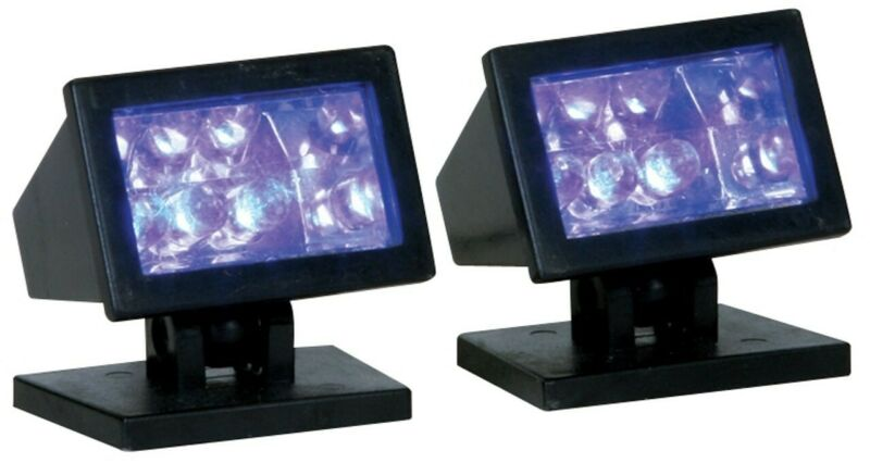 Spooky Town Purple Light, Set of 2 Illuminate Your Halloween Village by Lemax
