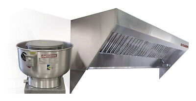 Mobile Kitchen Low Profile Exhaust Hood System 4 Hood Fan And Duct