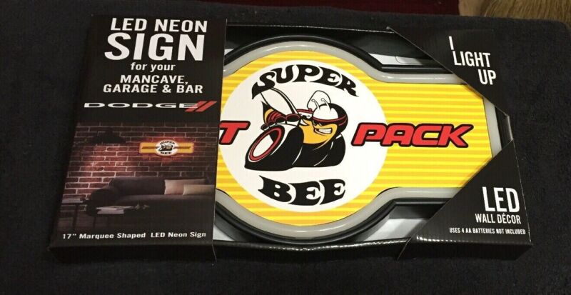 "Dodge Super Bee 17"" Marquee Shaped LED Sign NEW"