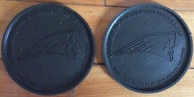New England Patriots Season Ticket Gillette Staduim Field Turf (2) Coasters