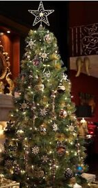 6ft gold tipped Lawrence Llwelyn-Bowen christmas tree(decorations not for sale)