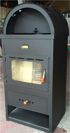 Modern wood burning stove 9kw new but with flaws RRP £240 priced to go @ £120
