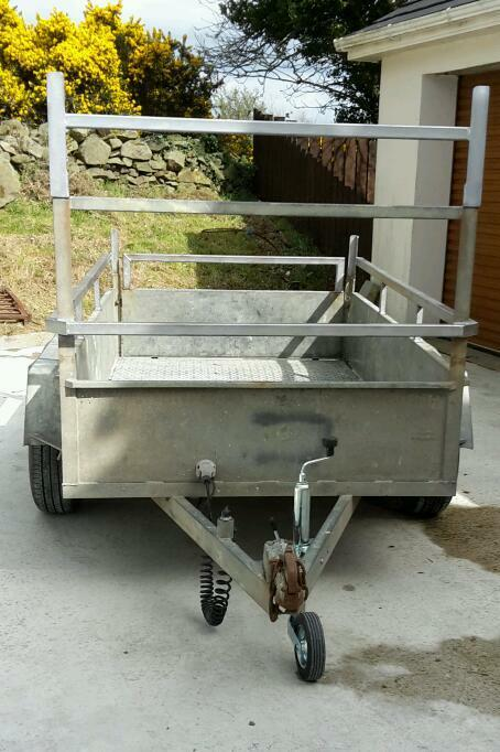 Twin axle steel car trailer