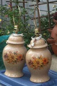 Porcelain Lamps No Shdes