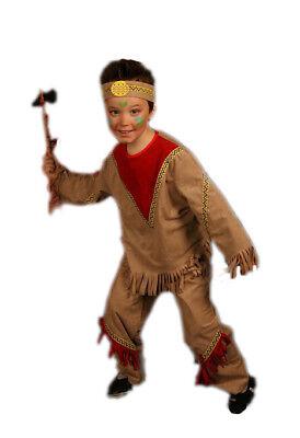 Indianer Winny Kostüm für Jungen - Faschingskostüm Anzug Gr. 140 - Indianer Kostüm Für Jungs
