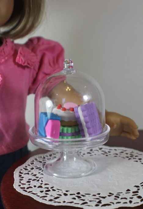 "Lovvbugg Cake Stand w French Pastry For 18"" American Girl Doll Grace"