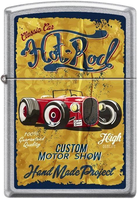 Zippo Classic Car, Hot Rod, Custom Motor Show, Hand Made, Street Chrome New Rare