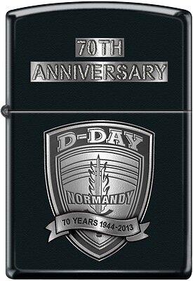 Zippo 70th Anniversary D-DAY Commemorative Lighter 1944 Black Matte New Rare