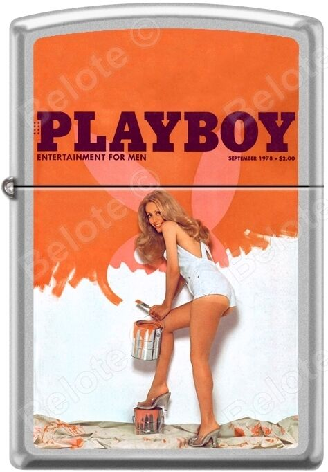 Zippo Playboy September 1978 Cover Satin Chrome Windproof Lighter NEW RARE
