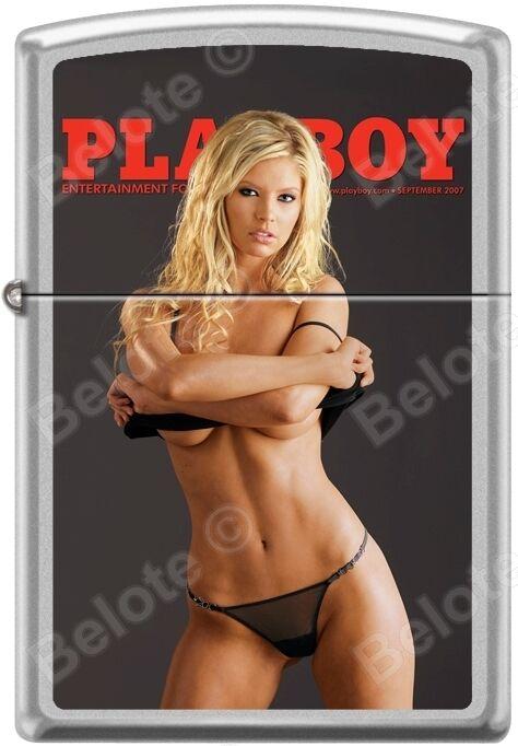 Zippo Playboy September 2007 Cover Satin Chrome Windproof Lighter NEW RARE