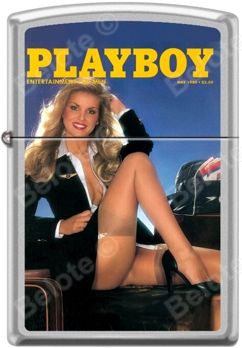 Zippo Playboy May 1980 Cover Satin Chrome Windproof Lighter NEW RARE