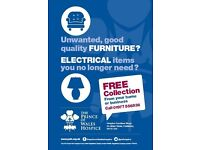 Donate your good quality furniture to The Prince of Wales Hospice Castleford furniture store