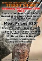 3rd Annual Thornton Firefighters Association Turkey Shoot!!