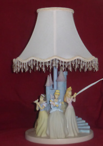 Vintage Ceramic Disney Princess Table Lamp
