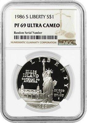 1986 S $1 Statue Of Liberty Centennial Commemorative Silver Dollar NGC PF69 UC