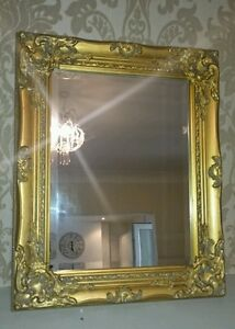 Vintage Shabby Chic Style Gold Antique Ornate Mirror Bed Room Living New