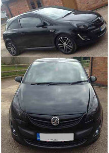 BLACK-FLY-EYE-TINT-HEADLIGHT-TAIL-LIGHT-100CMS-X-50CMS-VAUXHALL-CORSA-D