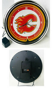 Calgary Flames Neon Light up CLOCK (PIERREFONDS) West Island Greater Montréal image 2
