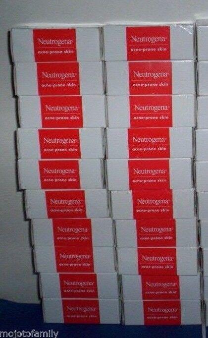 Lot of 30 Neutrogena Bars ACNE-Prone Skin Transparent Facial Soap 3.5 oz each