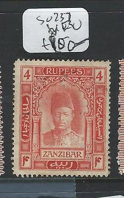 ZANZIBAR (P1907B) 4R  SG 237  VFU