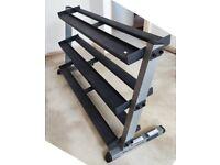 Body Solid GDR60 + GDRT6 3 tier Heavy Duty Dumbbell rack