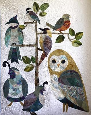 Collage Quilter Aviary Birds Wall Hanging Collage Quilt Pattern