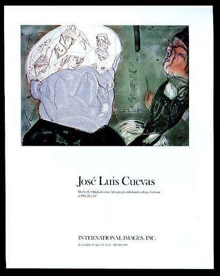 1988 Jose Luis Cuevas Macbeth portrait International Images vintage print ad