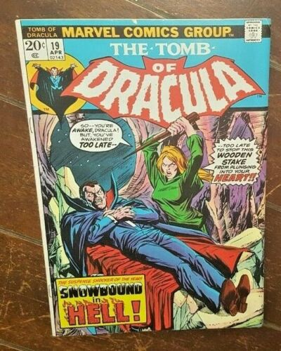 The Tomb of Dracula #19, (1973, Marvel): Snowbound in Hell!