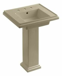Kohler 2844-8-33 Tresham 24 Pedestal Lavatory With 8 Widespread