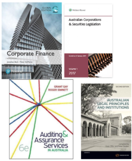 Textbooks for accounting and finance studies