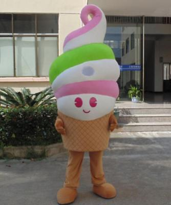 Advertising Ice Cream Shop Cone Mascot Costume Suits Party Restaurant Sale Adult