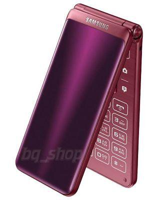 """Samsung Galaxy Folder 2 G1650 Dual Sim 3.8"""" Red 16GB 2GB Android Phone By FedEx"""