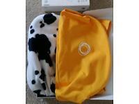 Bugaboo bee plus yellow hood with free cow print hood