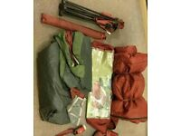 3-man Tent with sleeping bag and chair