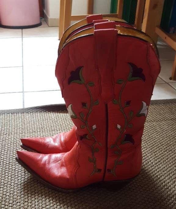 Vintage Folklore Cowboy Stiefel Rot 37