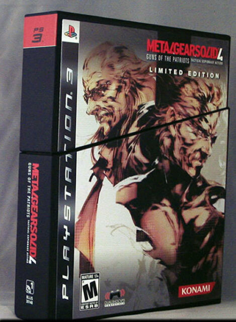 Metal Gear Solid 4: Guns of the Patriots Exclusive Limited Edition PS3 New Plays