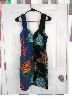 Black and blue versace floral dress size 26