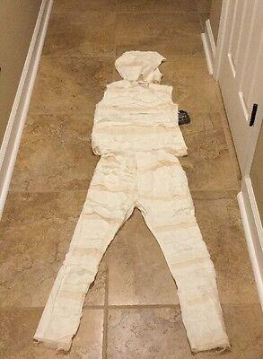 NEW Pottery Barn Teen MUMMY Costume WHITE 11-12 Years - Teen Mummy Costume