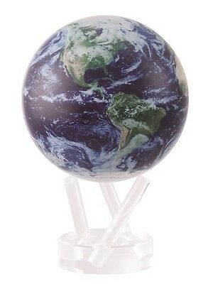 """4.5"""" Satellite View with Cloud Cover Rotating MOVA Globe"""