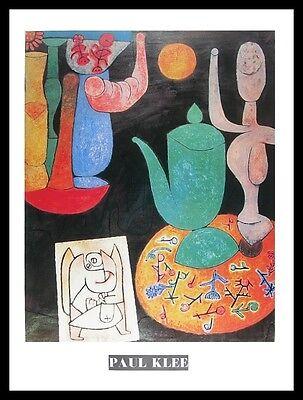 Klee letztes Stillleben Komposition auf Grund Poster Kunstdruck im Alu Rahmen