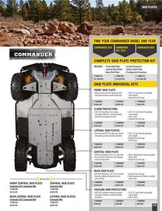 NEW CAN-AM COMMANDER 2015 - 2017 COMPLETE SKID PLATE PROTECTION Regina Regina Area image 1