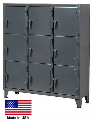 Personnel - Personal Locker Coml Industrial - 9 Lockers - 68 H X 18 D X 62 W
