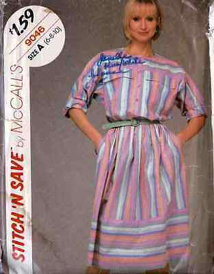 Shirt AND SKIRT Painter STYLE SHIRT Skirt w/ POCKET MISS Pattern sz 6 - 8 - 10