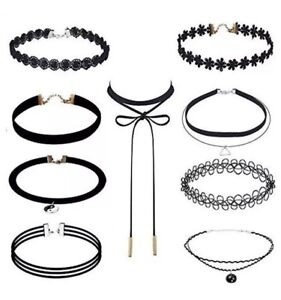 Set of 9 Brand New Fashion Chokers - All for $10!
