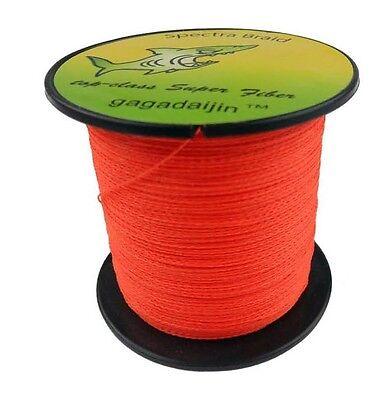 Pe orange 100 1000m 6 300lb dyneema power pro super braid for Orange fishing line
