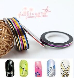 20-Pcs-Mixed-Colors-Pretty-Rolls-Striping-Tape-Line-Nail-Art-Decoration-Sticker