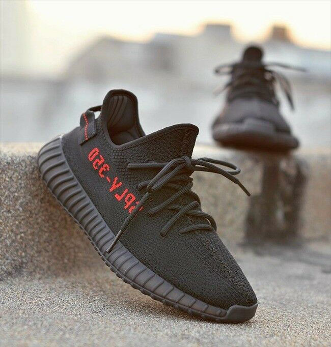 14c5f1487813 Brand New Adidas Yeezy Boost 350 V2 2.0 Trainers Bred CP9652 Black Red  Kanye West
